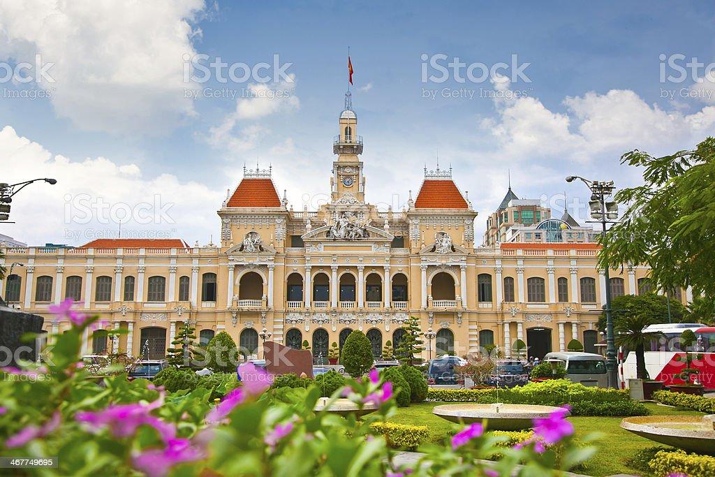 The Ho Chi Minh city hall in Vietnam stock photo