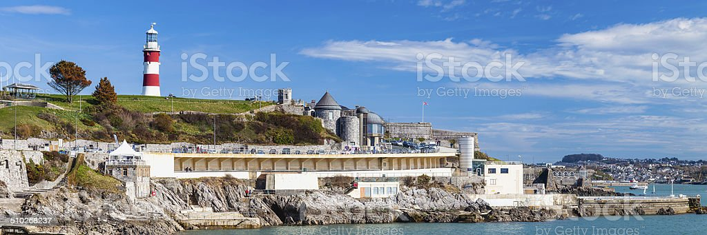 The Hoe Plymouth Devon stock photo
