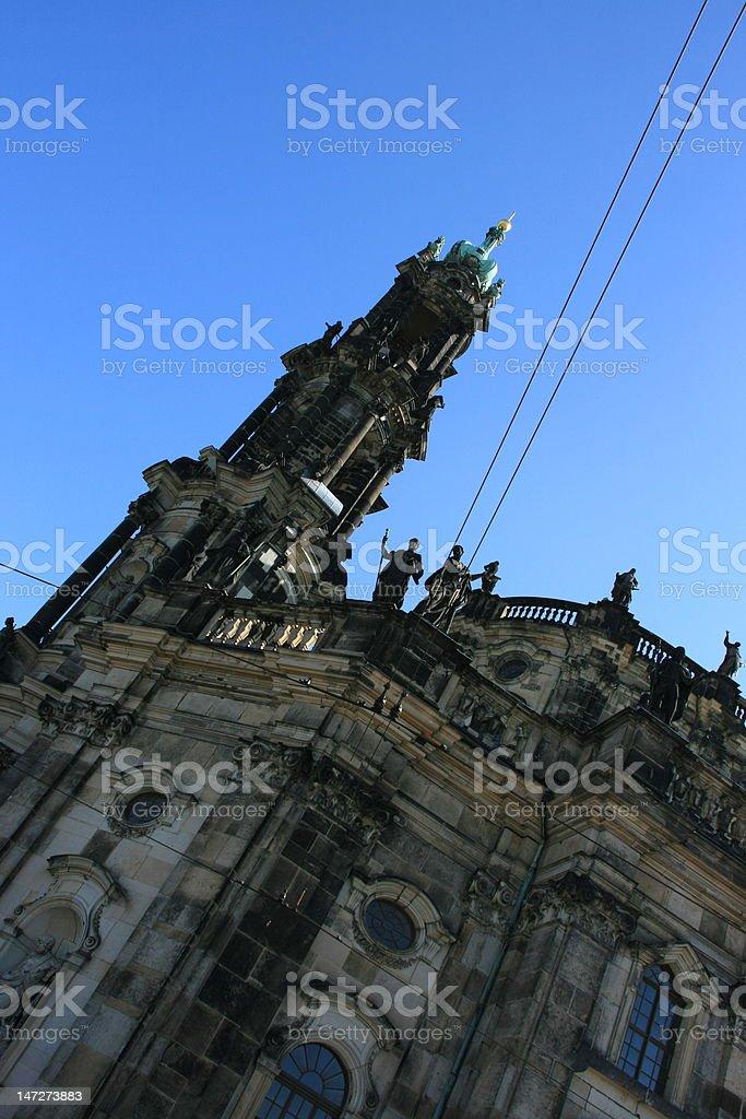 The Hofkirche of Dresden royalty-free stock photo