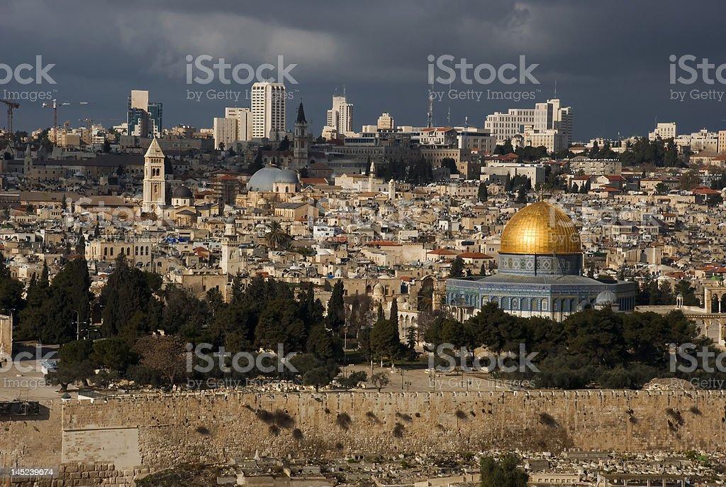 The holy city Jerusalem royalty-free stock photo