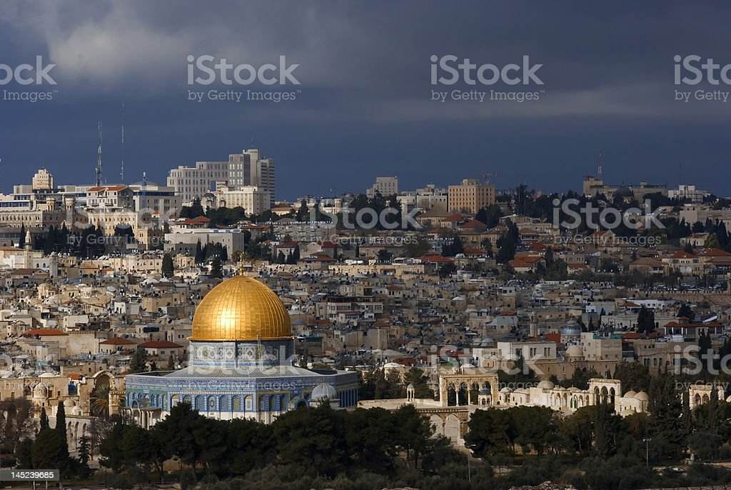 The holy city Jerusalem royalty-free stock photo