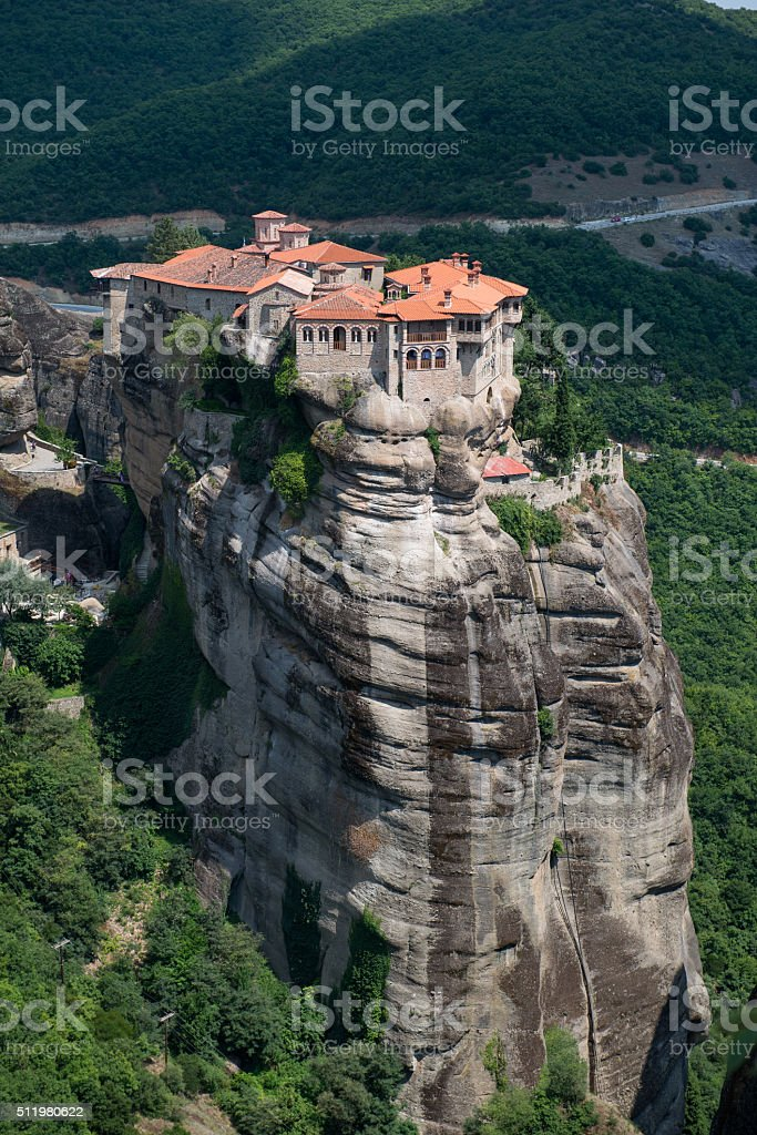 The Holy Monastery of Varlaam in Meteora stock photo