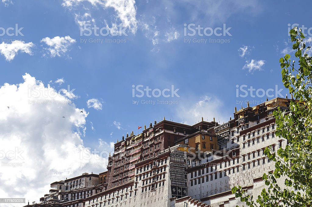 the holy Potala Palace in Tibet, China royalty-free stock photo