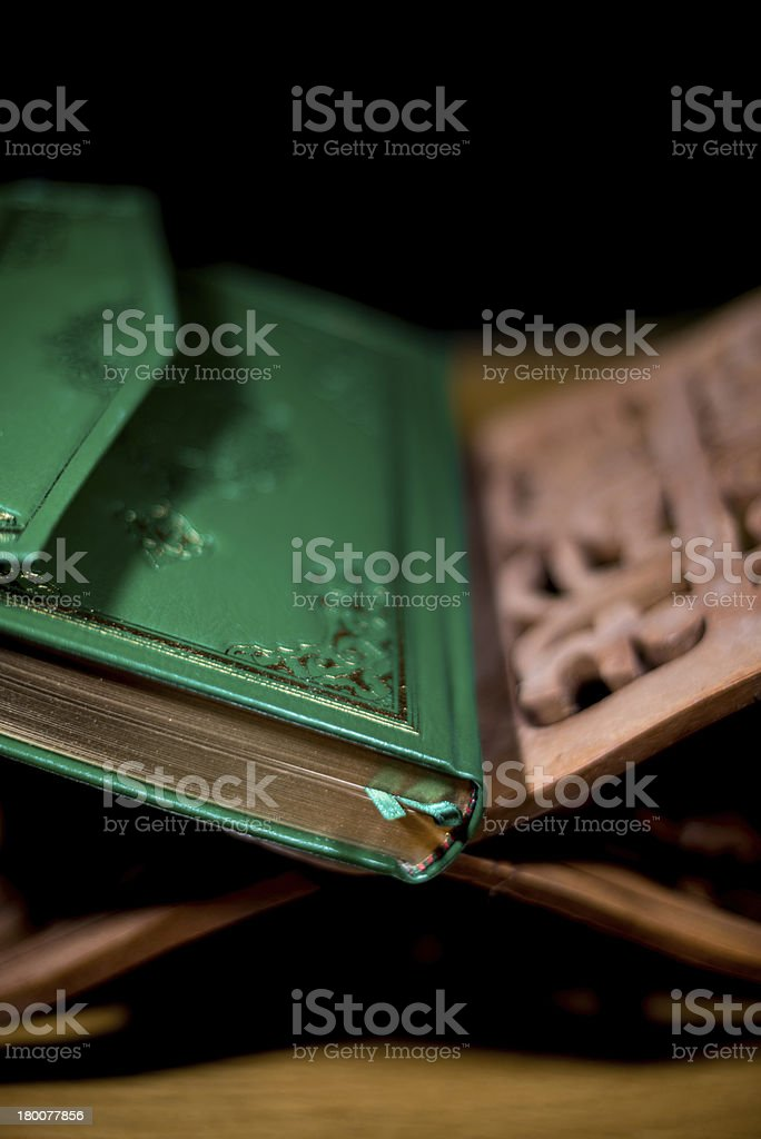 the holy quran book royalty-free stock photo