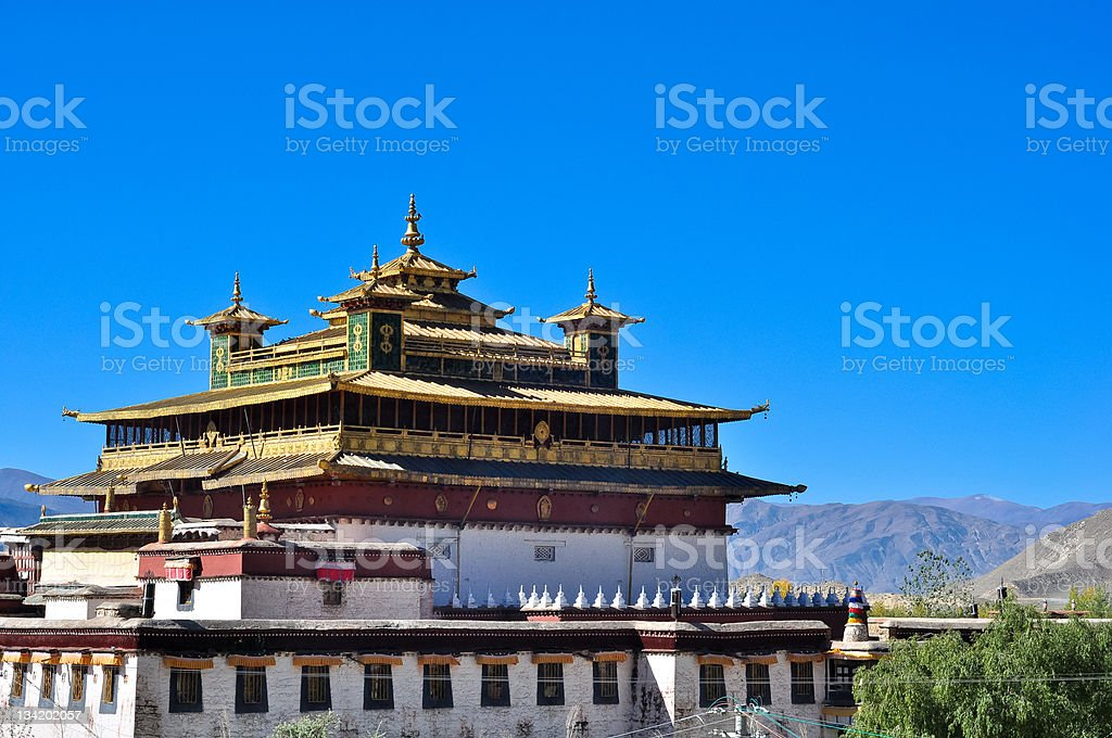 the holy temple in Samye monastery royalty-free stock photo