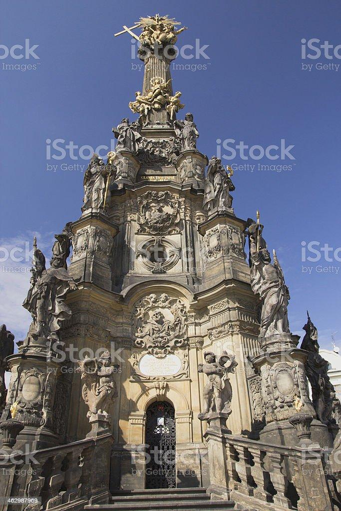 The Holy Trinity Column in Olomouc (Czech Republic) stock photo