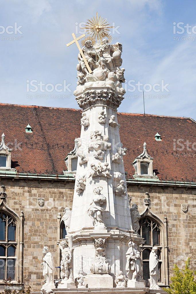 The Holy Trinity Column (Szentháromság Szobor) stock photo