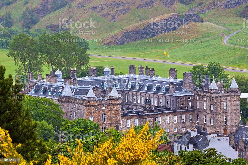 The Holyrood Palace, Edinburgh, United Kingdom. stock photo
