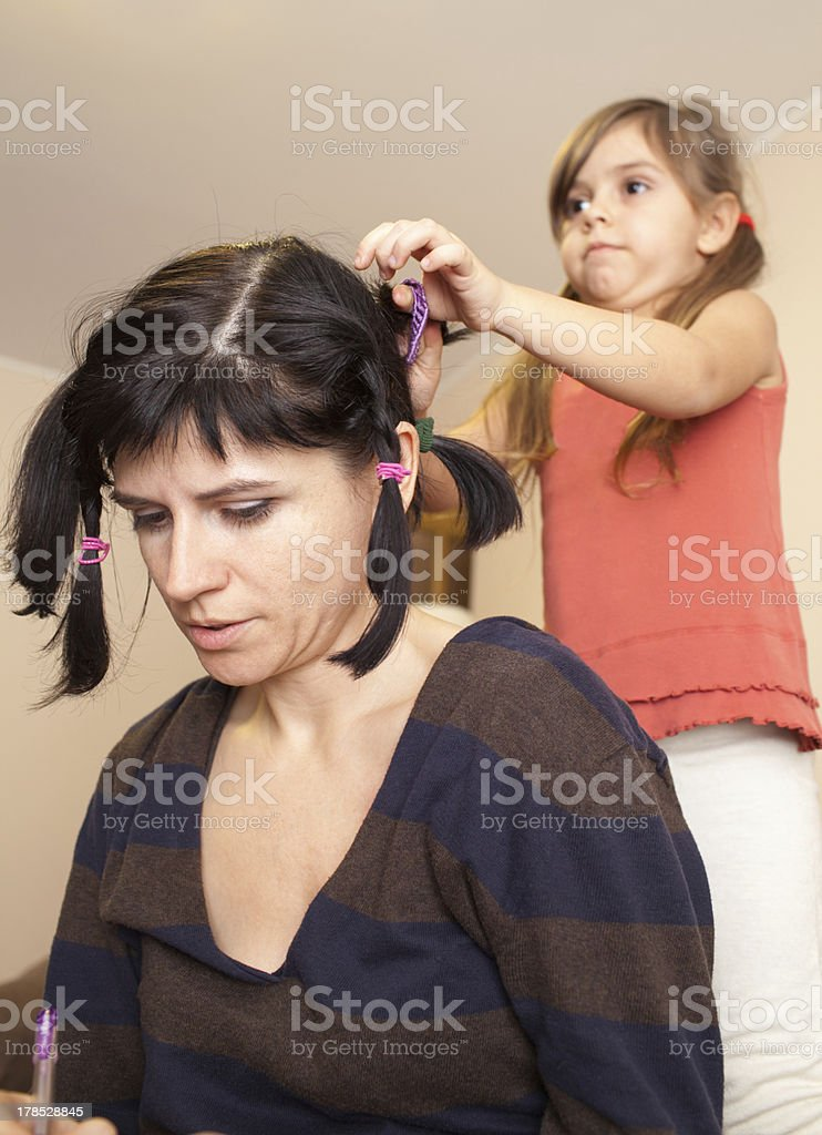 The home barber royalty-free stock photo