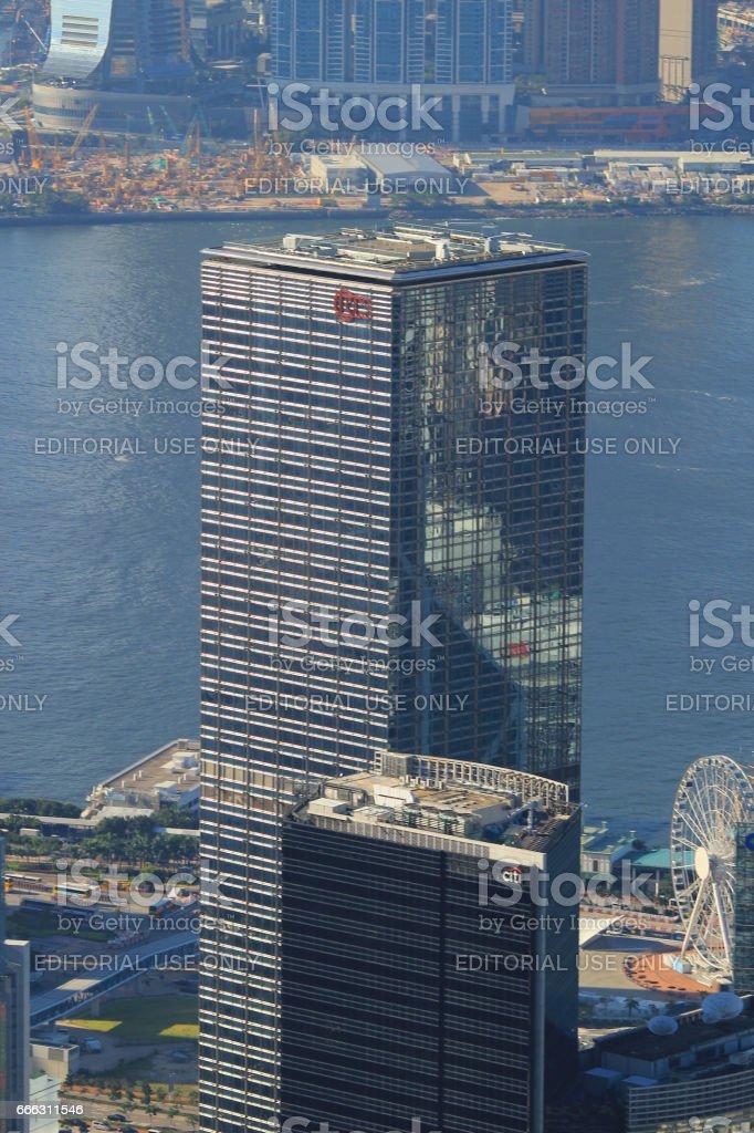 The Hong Kong Corporate Buildings stock photo