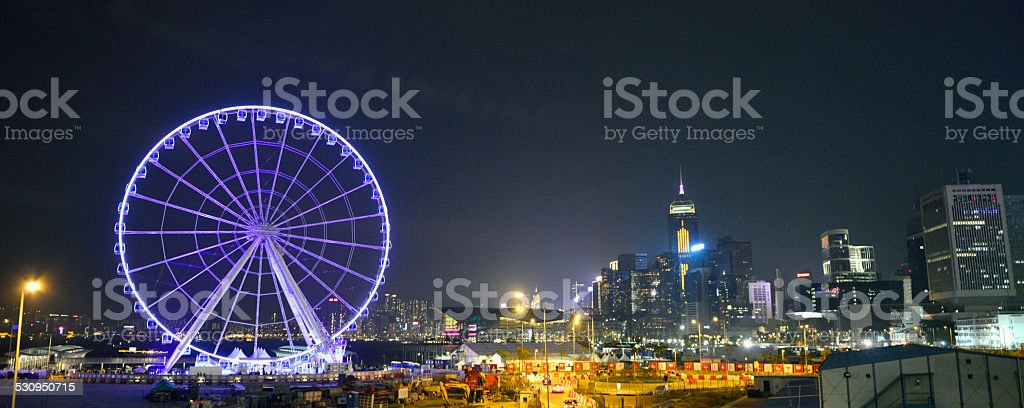 The Hong Kong Observation Wheel stock photo