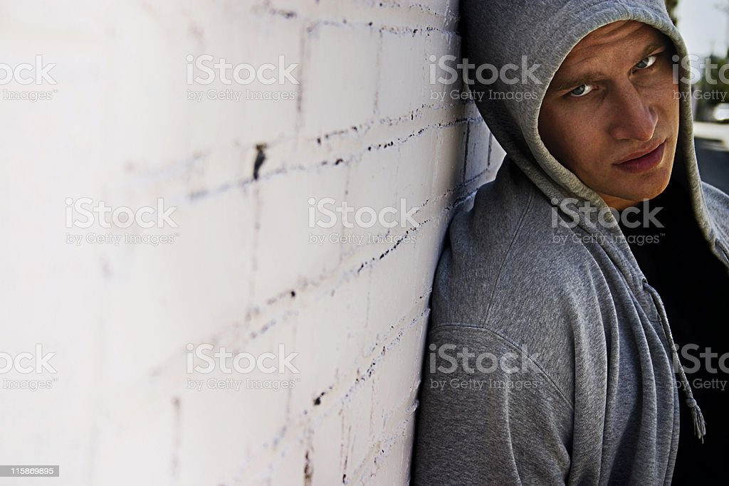 The Hoodlum royalty-free stock photo