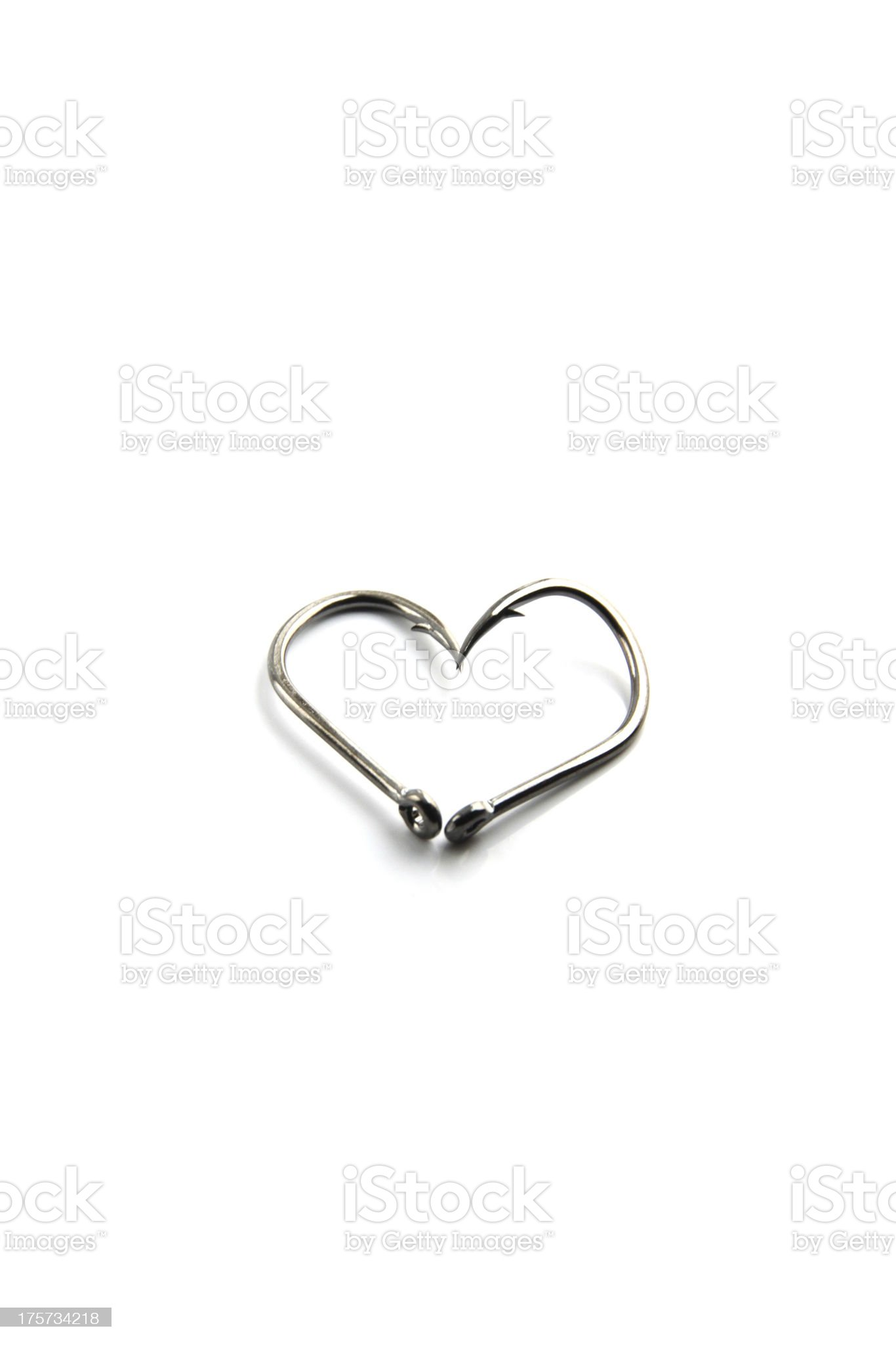 The Hooks is fishing,A heart-shaped hook. royalty-free stock photo
