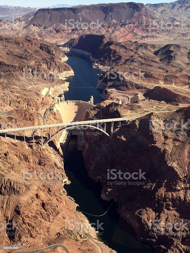 The Hoover Dam Across the Colorado River stock photo