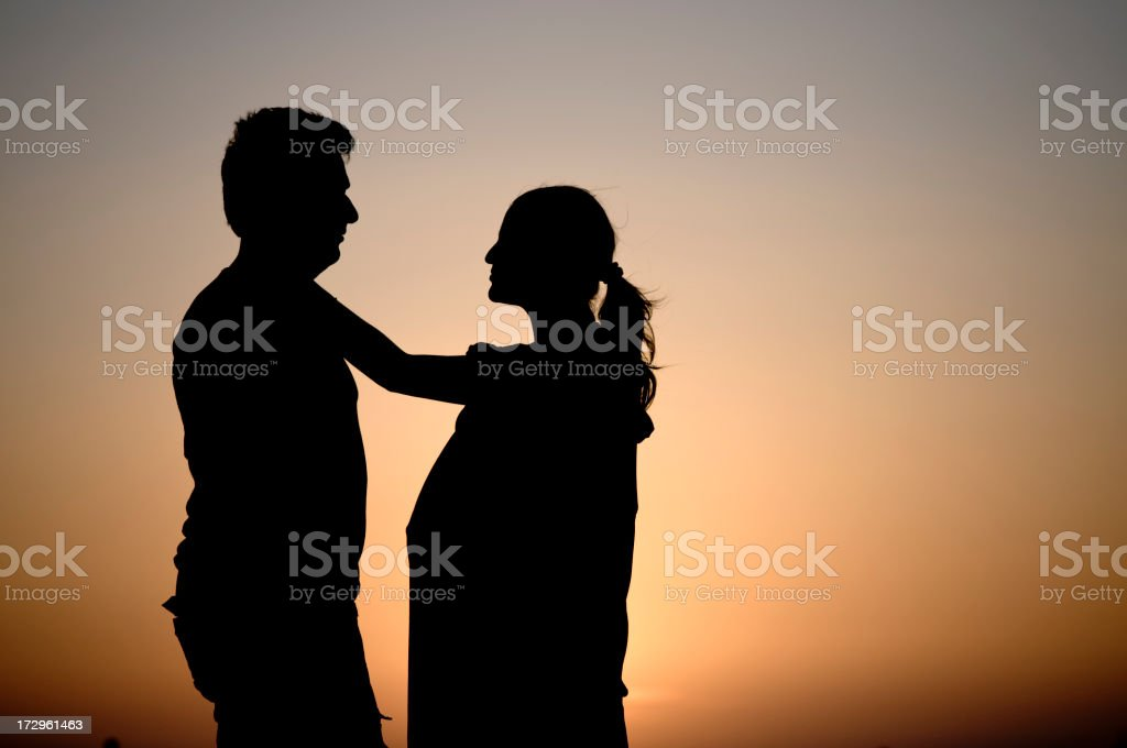 The hopeful couple... royalty-free stock photo