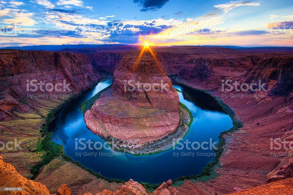 The Horseshoe Bend Canyon, Arizona scenics stock photo