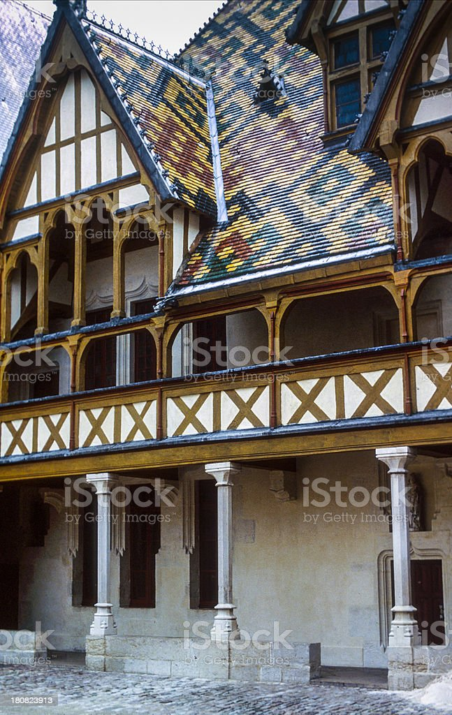 The Hospice at Beaune stock photo