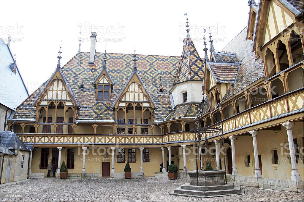 The Hospices de Beaune, France stock photo