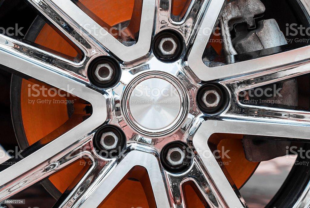 The hot brake disc stock photo