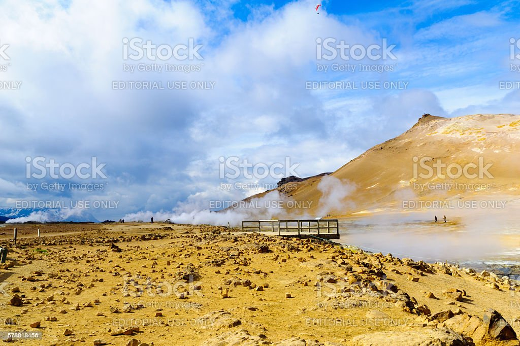 The hot springs in Hverarond stock photo