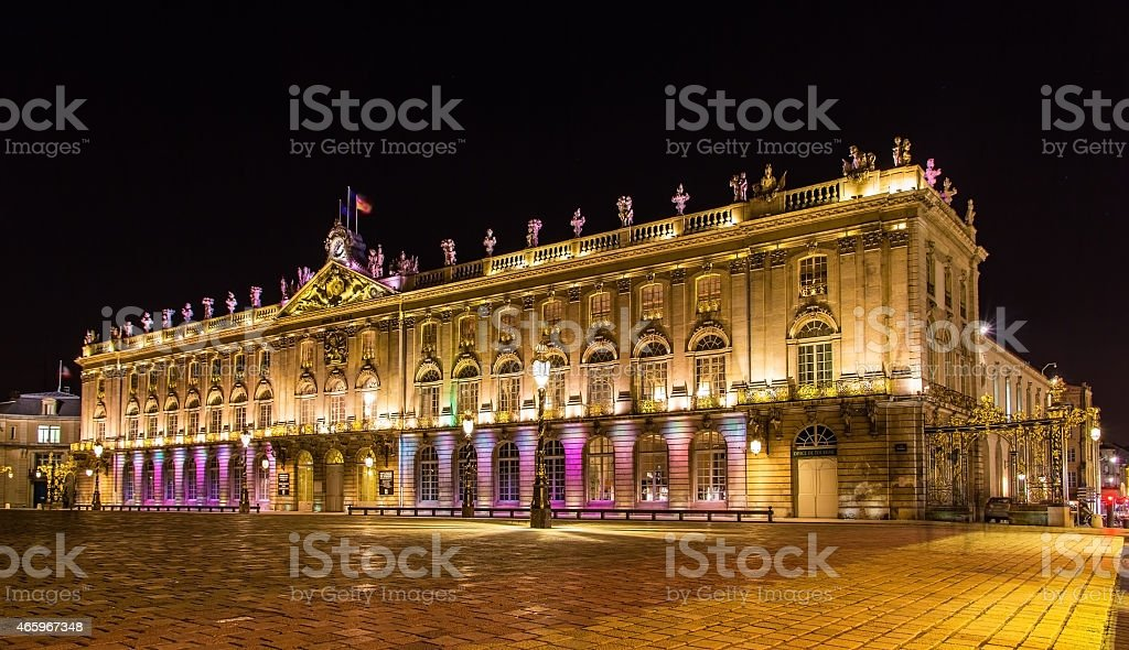 The Hotel de Ville (City Hall) of Nancy stock photo