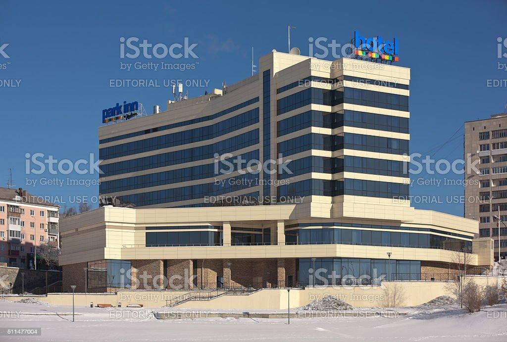 The hotel 'Park Inn by Radisson'. Nizhny Tagil. Russia. stock photo