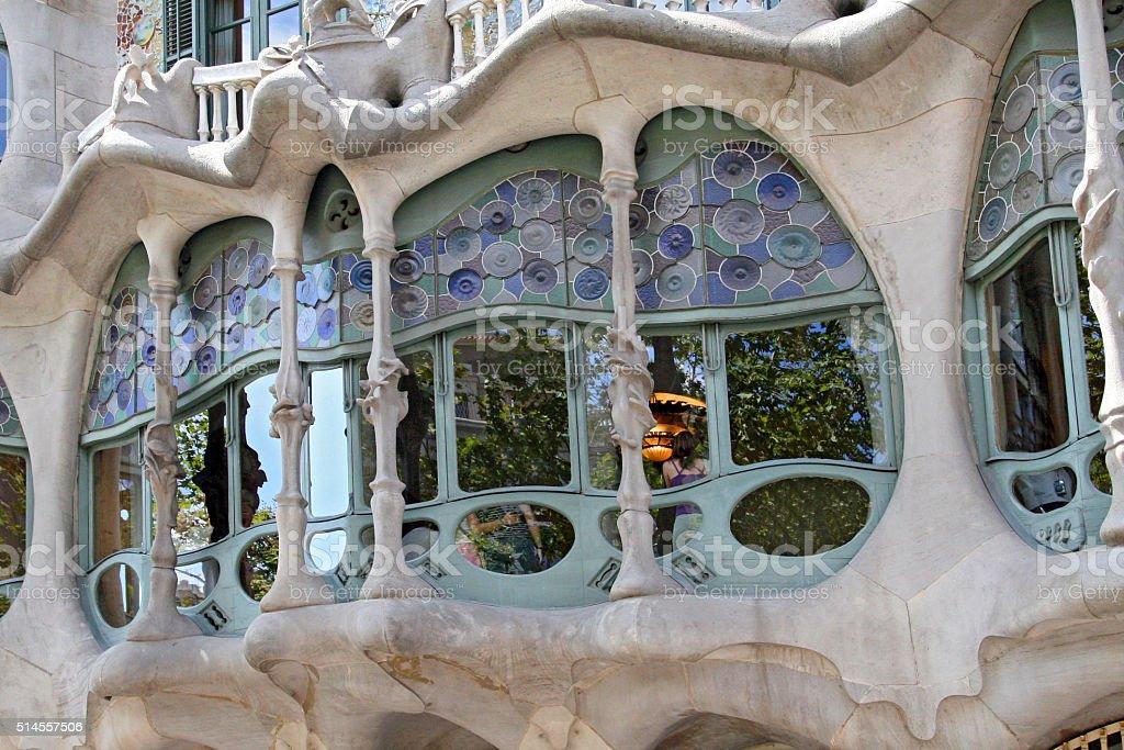 The house Casa Batllo on Barcelona, Spain stock photo