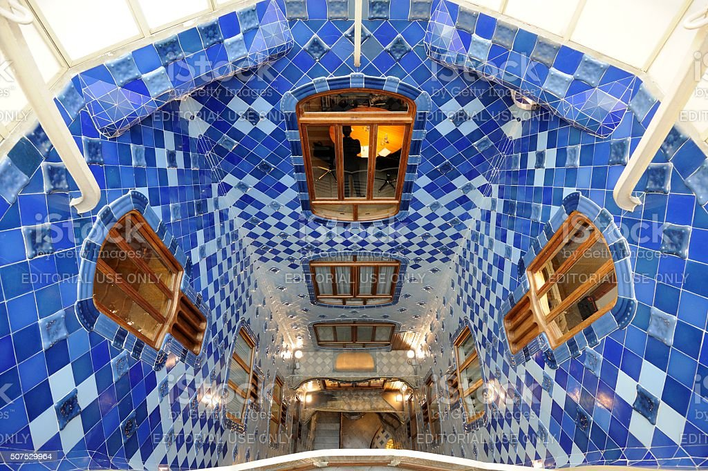 BARCELONA  The house Casa Batllo (interior) stock photo