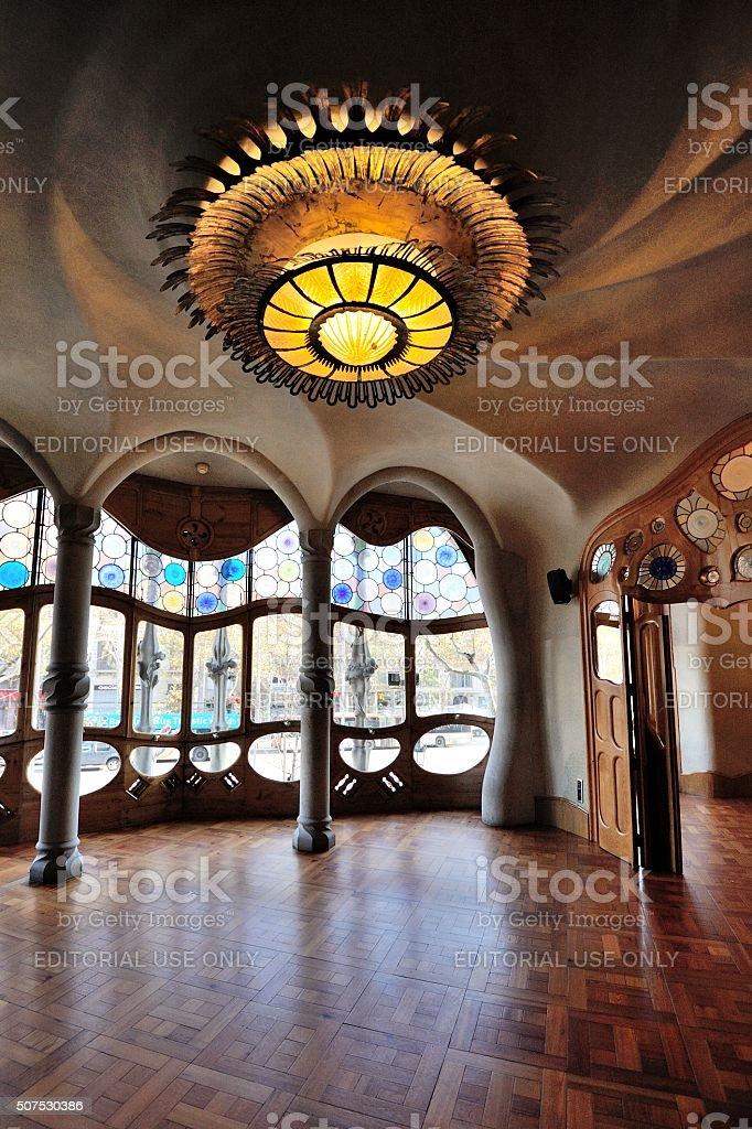 BARCELONA The house Casa Batllo (interior) stock photo
