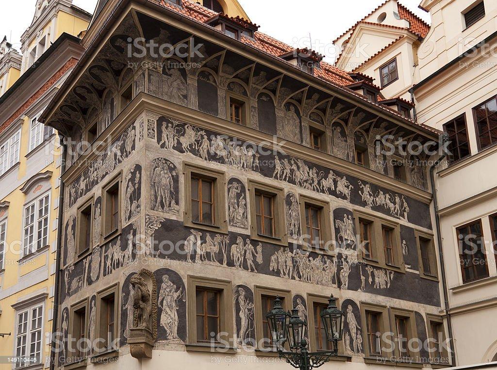 The house Dum U Minuty royalty-free stock photo
