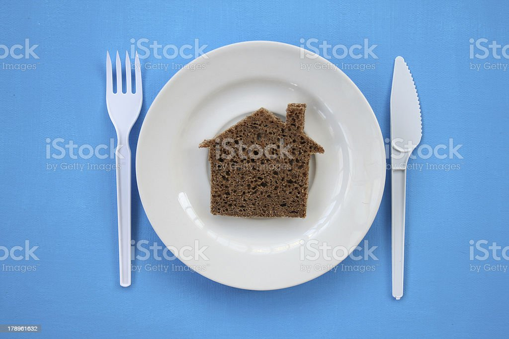 The house from bread. royalty-free stock photo