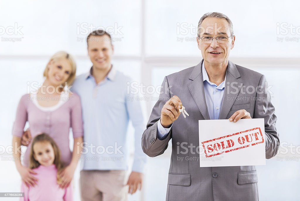 The house has been sold! royalty-free stock photo