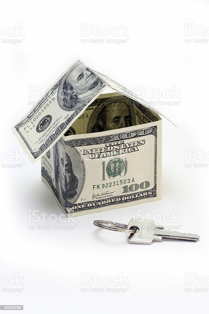the house made of Dollars royalty-free stock photo