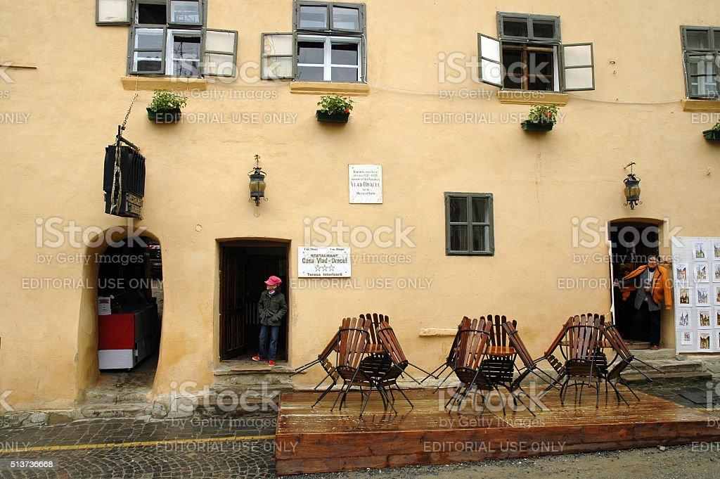 The house of Dracula in Transylvania stock photo