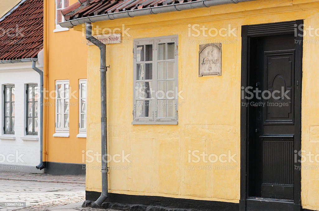 The house of Hans Christian Andersen famous fairy tales writer royalty-free stock photo