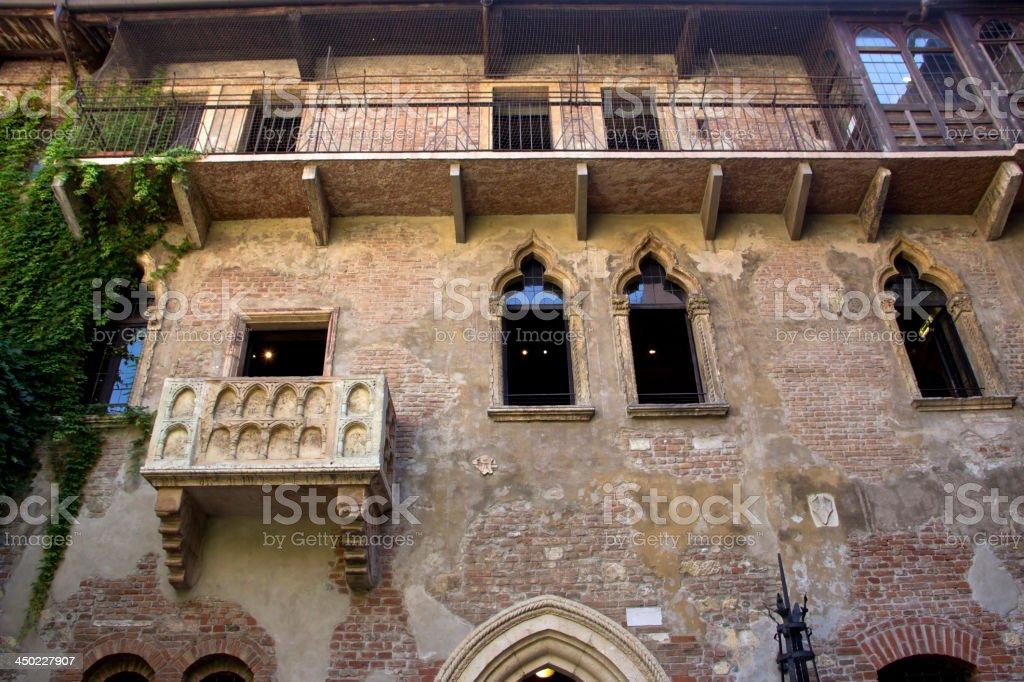 The house of Julia in Verona stock photo