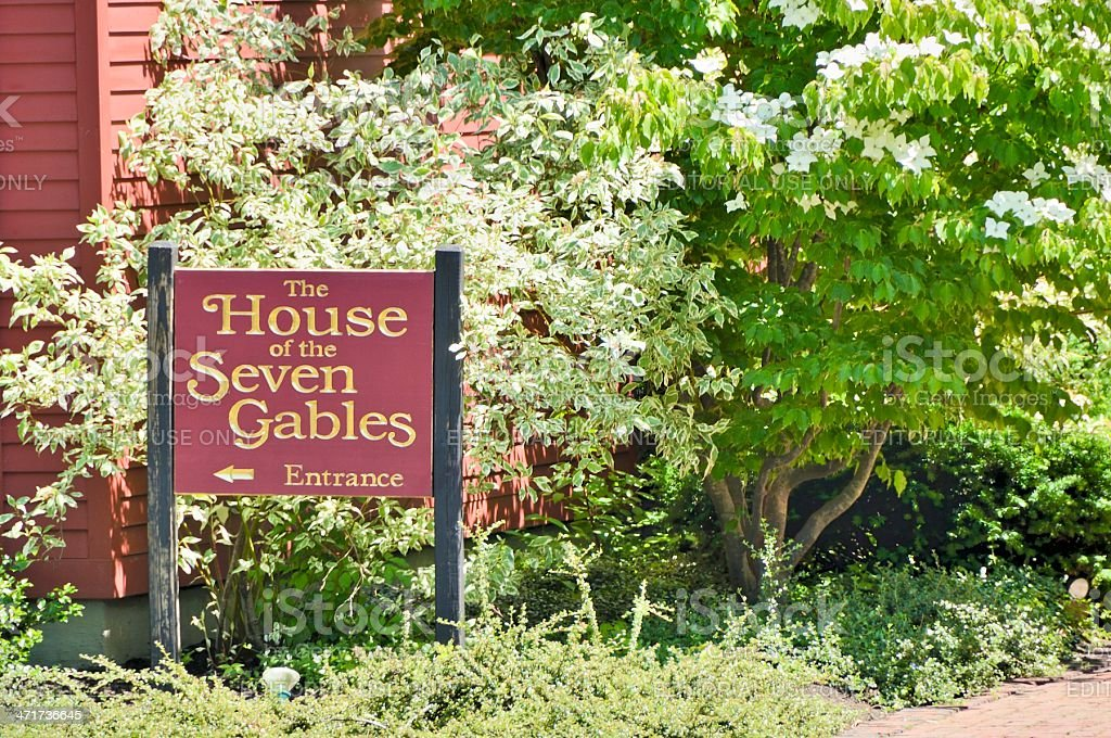 The House of Seven Gables royalty-free stock photo