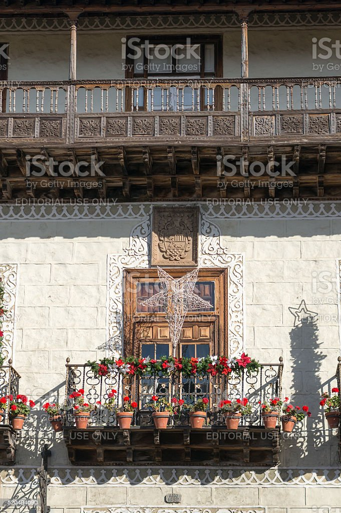 The house of the balconies stock photo