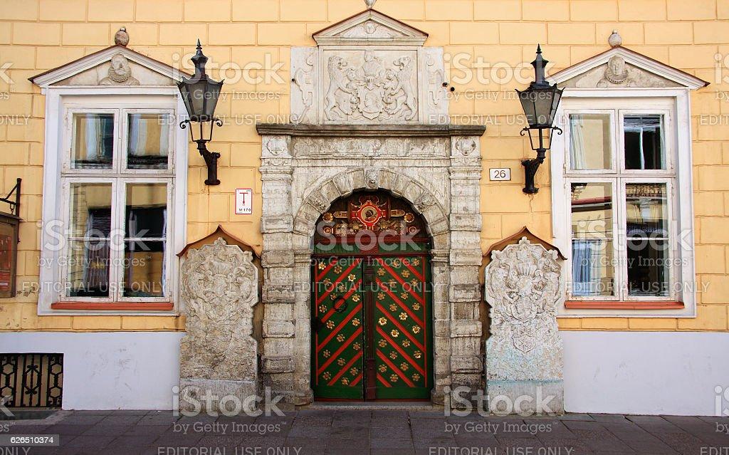 The House of the Brotherhood of the Blackheads. Tallinn, Estonia. stock photo