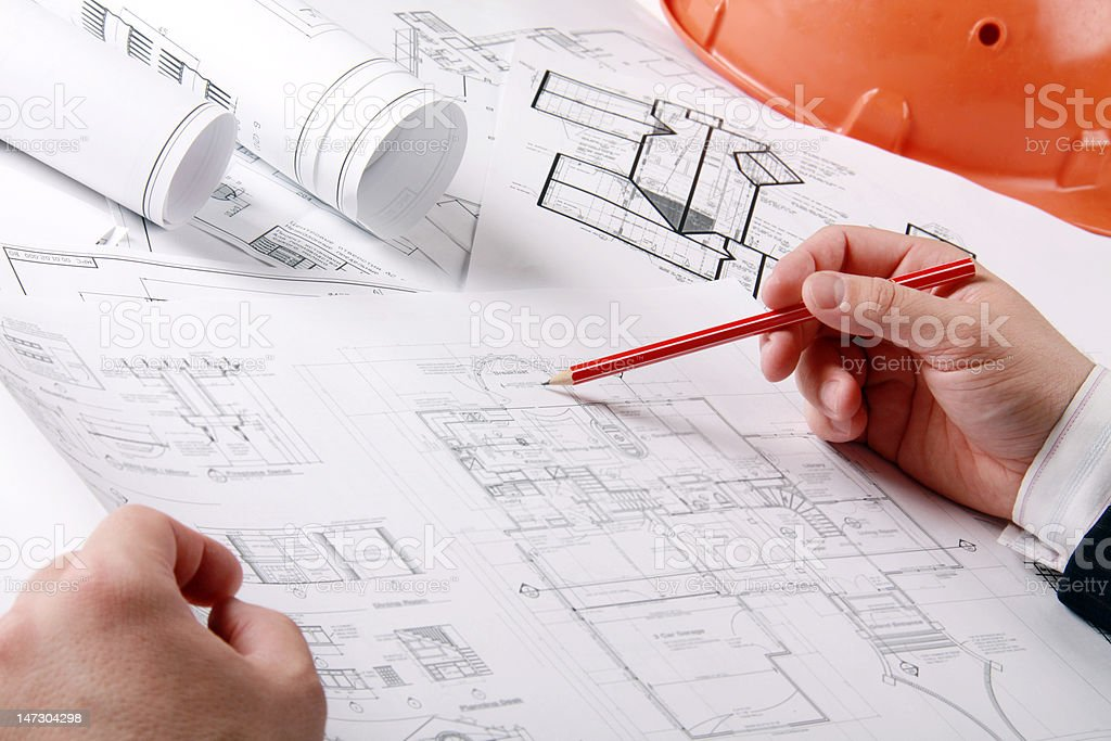The house plan royalty-free stock photo
