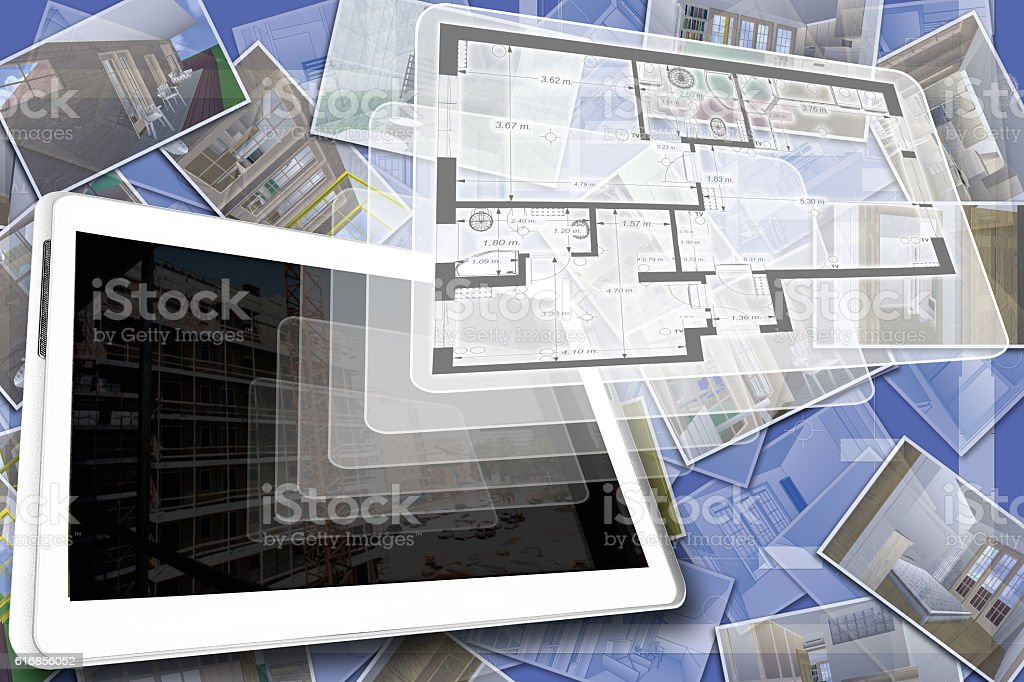 The house plan stock photo