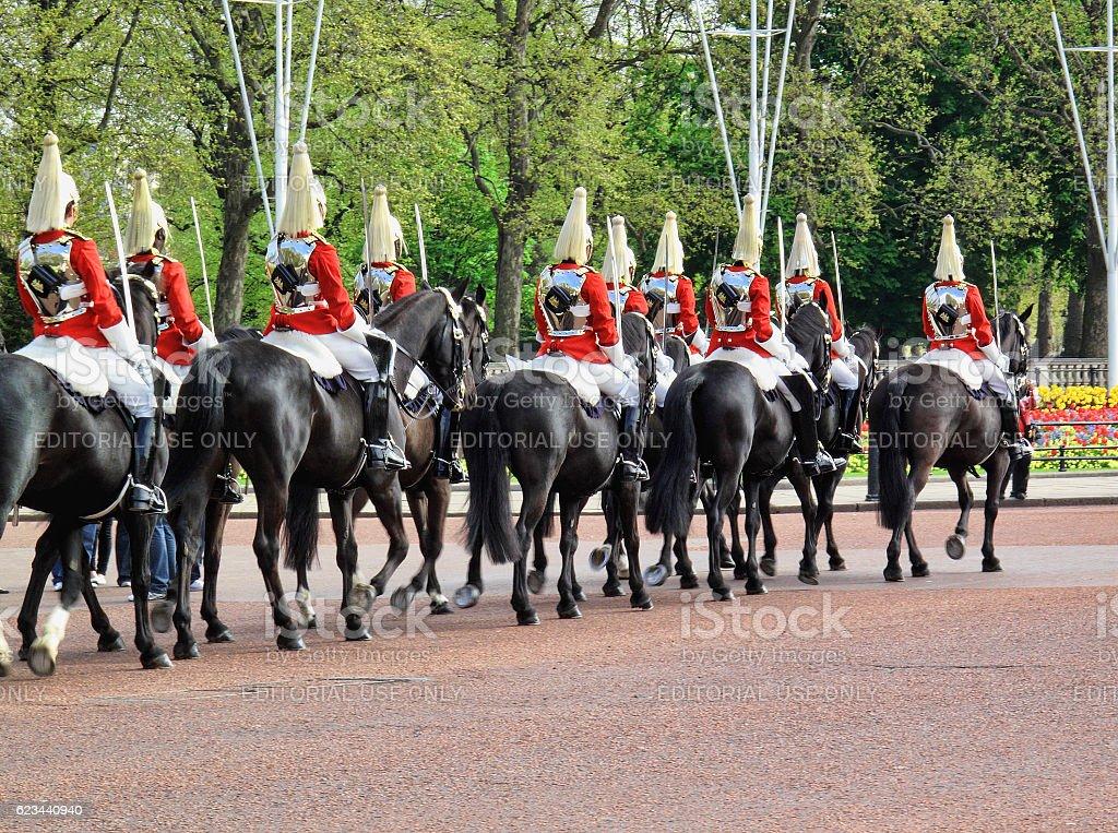 The Household Cavalry stock photo