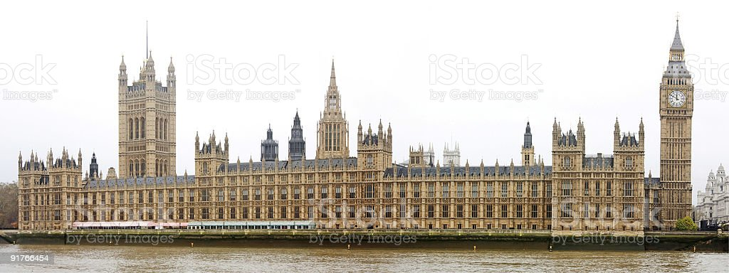 The Houses of Parliament and Big Ben in London stock photo