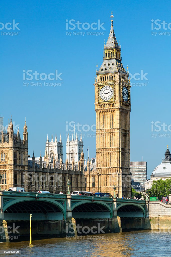 Las casas del Parlamento y el Big Ben, London, Reino Unido foto de stock libre de derechos