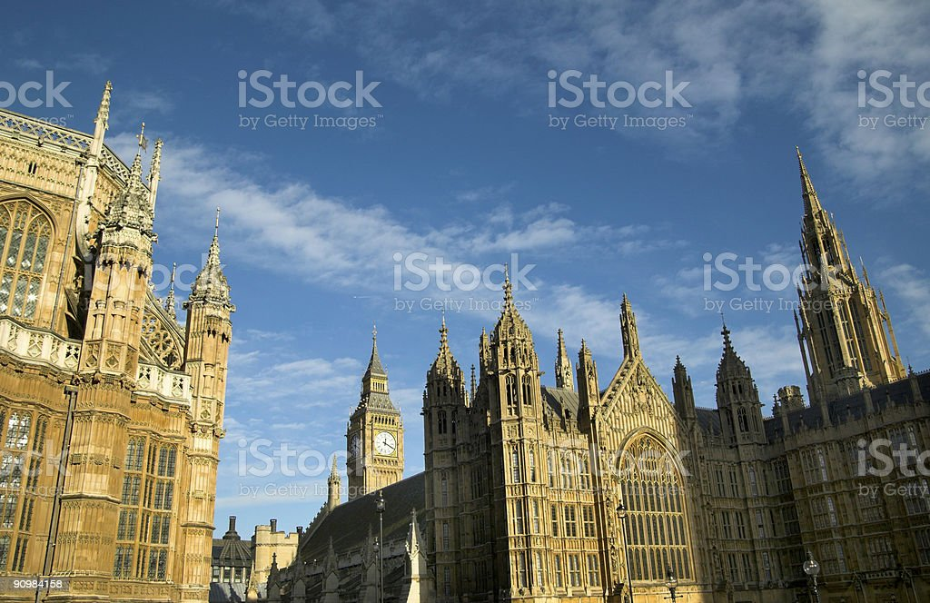 The Houses Of Parliament Cityscape royalty-free stock photo