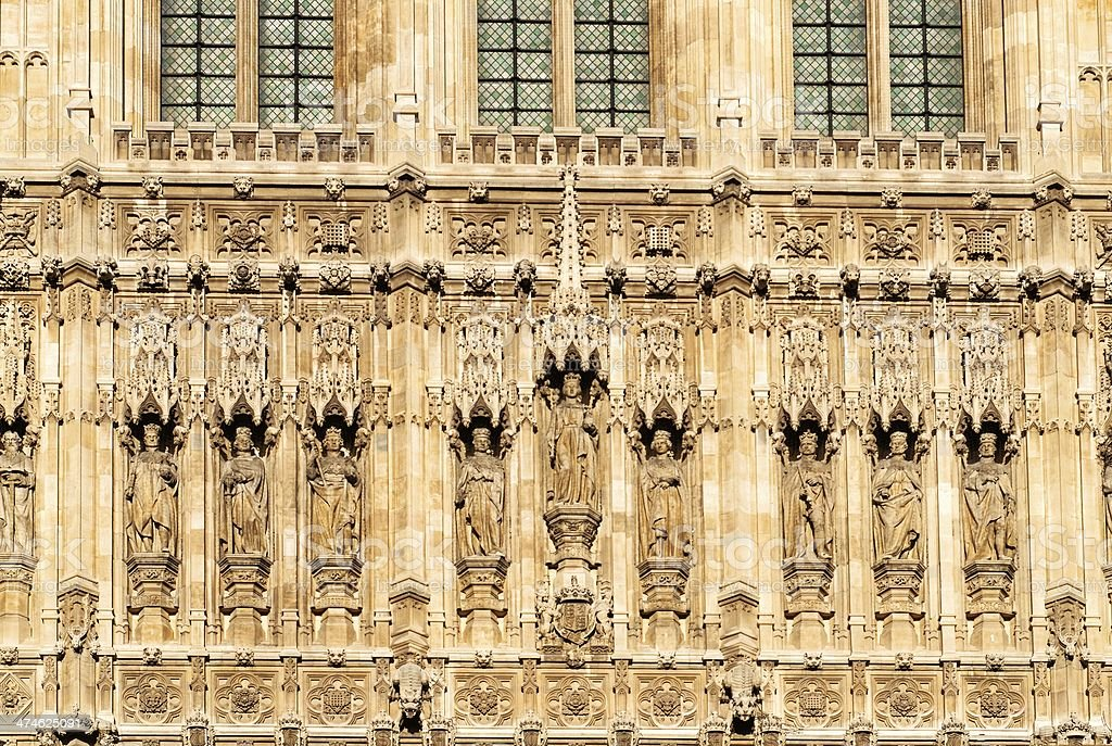 The Houses of Parliament. London. UK, detail stock photo