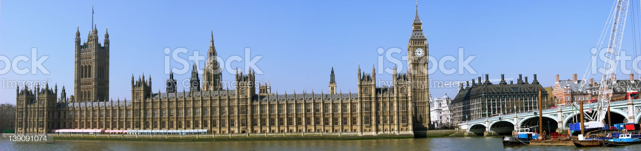 The houses of Parliament panoramic royalty-free stock photo