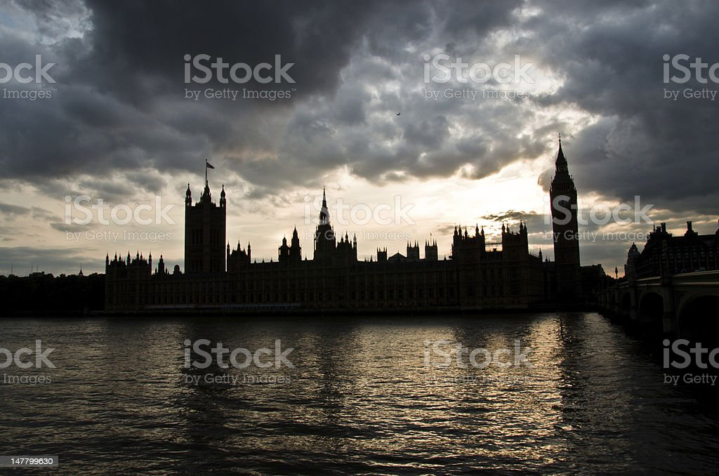 The Houses of Parliament royalty-free stock photo