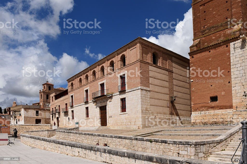 The Houses of the Treaty in Tordesillas, Valladolid province, Spain stock photo