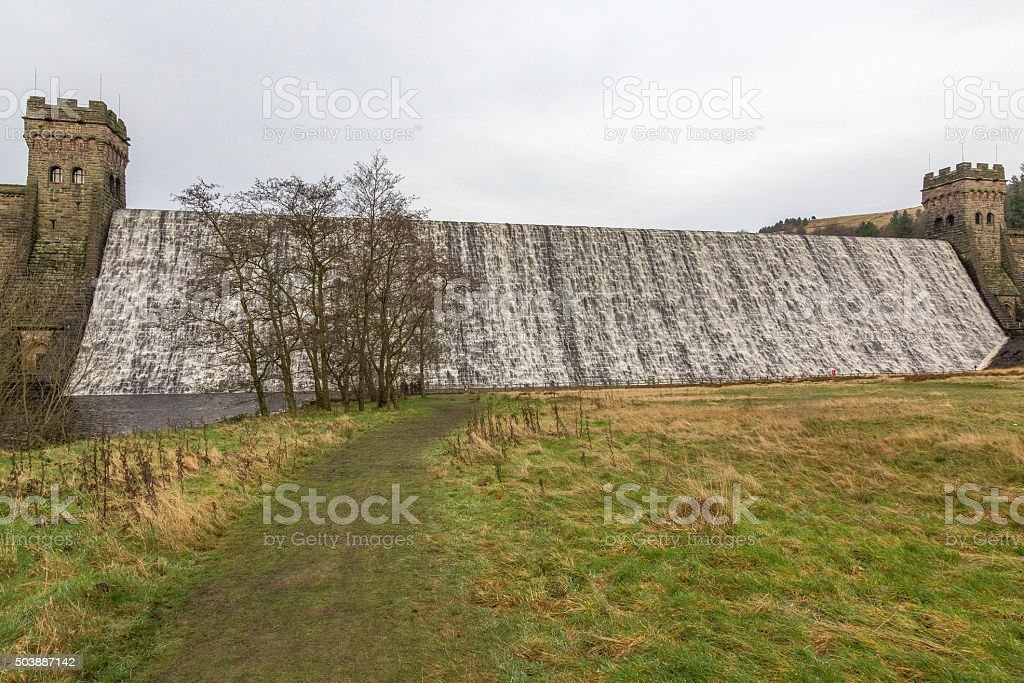 The Howden Dam in Derbyshire, UK stock photo